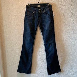 NWT, darkwashed Hudson signature bootcut jean